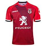 MGRH 2019-2020 Toulouse Home and Away Rugby Jersey, T-Shirt décontracté Respirant Sport d'été Supporter Football Polo, d'anniversaire Red-M