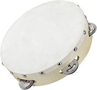 Clifton 8 Inch Tambourine Drum 5 Pairs Bell Single Row Tambourine Metal Jingles Percussion Toy Instrument Hand Tambourine