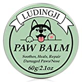 Ludingji Paw Soother, Paw Balm Dogs Natural and Organic Paw Wax 2.1 Oz All Season Pet Paw Protection Against Heat, Sand, Snow, Great for Dogs, Cats, Horses and Chickens