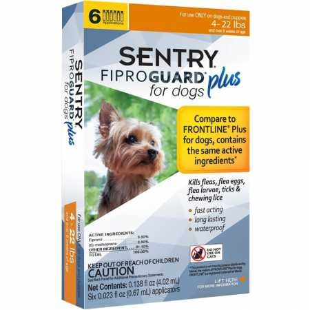 SENTRY PET CARE Fiproguard Plus for Dogs, Flea and Tick Prevention for Dogs (5-22 Pounds), Includes 6 Month Supply of Topical Flea Treatments (3429)