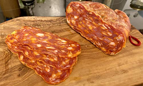 Spianata Piccante flache scharfe Chili Salami aus Italien aus Kalabrien ca. 550gr