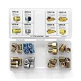 4LIFETIMELINES Fitting Assortment 1/4' Tube Nut, Union, Adapter, 8 SKU