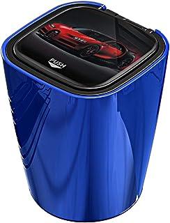 M & A Keleily Blau Auto Aschenbecher mit Deckel und Licht, Automatisches Öffnen, Winddichter Aschenbecher Autoaschenbecher für Auto, Fahrzeug, LKW, Büro, Haus, Bar, Garten, Outdoor