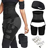 6 in 1 Waist Trainer Thigh Arm Trimmer for Women Double Comp