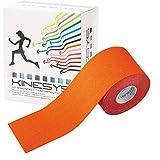 【全16色】トワテック カラーキネシオロジーテープ KINESYS(キネシス) 5cm×5m 6巻【リニューアル】(オレンジ)
