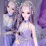YYSDH 24 Inch Girl Doll, 1/3 BJD Doll Full Set Toy, Fashion Doll Handmade 26 Ball-Joined Doll con Accesorios de Disfraces Pintados a Mano, para Regalo de cumpleaños