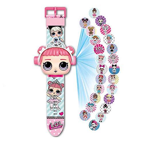 L.O.L - Reloj de pulsera con proyector (20 figuras de muñeca)