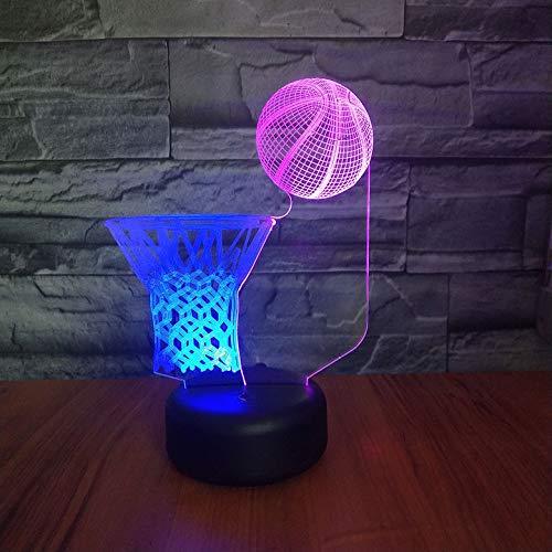 Sport Basketbal Multicolor 3D-lamp Nachtkastdecoratie Batterij-aangedreven lamp Kinderen Kinderen Led-nachtlampje Sensor Decor