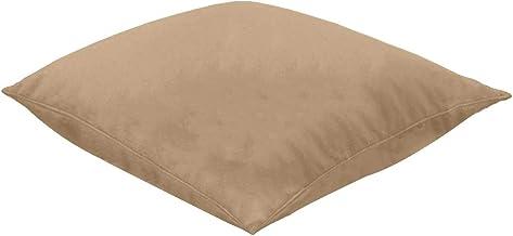 Regal In House Giant Floor Cushion Velvet Microfiber filler 90X90 Cm - Dark Beige