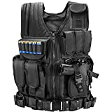 Marmot Tactical Vest Durable Mesh Vest with Detachable Belt & Holster for Subcompact/Compact/Standard Pistol - XL