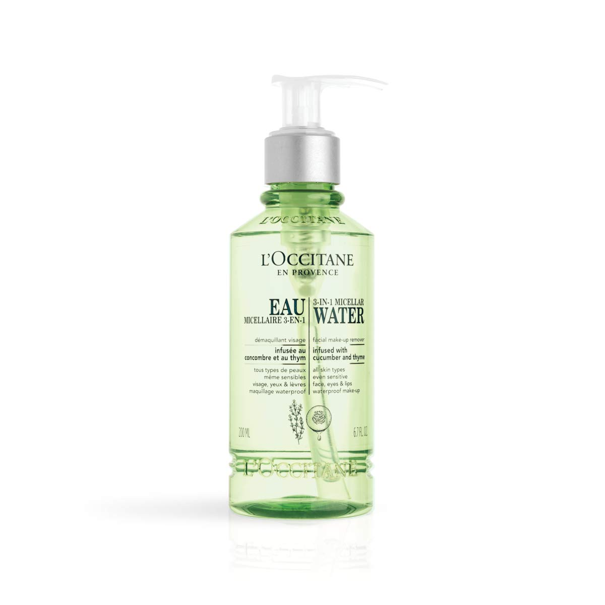 L'Occitane 3-in-1 Micellar Water Large discharge sale Makeup Fl Oz 6.7 Ranking TOP8 Remover