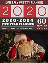 5 year planner 2020-2024: cute 5 year planner 2020 for planning short term to long term goals | easy to use and overview your plan | santa claus design (5 year monthly planner 2020-2024)