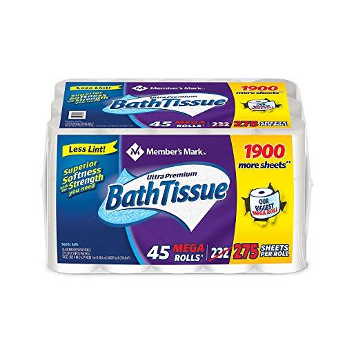 Member's Mark Toilet Paper, 45 Rolls/275 Sheets per Roll
