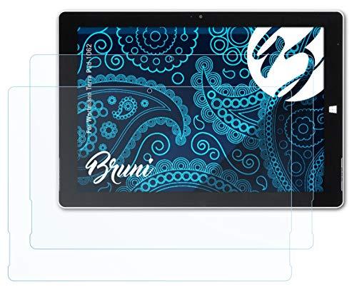 Bruni Schutzfolie kompatibel mit Wortmann Terra Pad 1062 Folie, glasklare Bildschirmschutzfolie (2X)