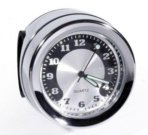 Lenkeruhr Metall Chrom Big Motorrad Uhr großes Ziffernblat