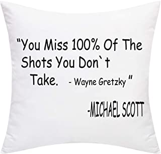 BLEUM CADE You Miss 100% of The Shots You Don't Take Throw Pillow Cover Decorative Cushion Covers Best Gifts or Daily Decorations