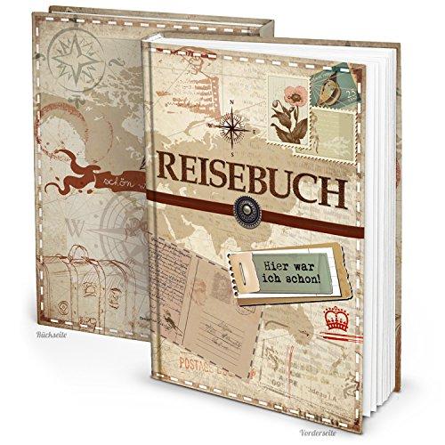 Logbuch-Verlag XXL Reisetagebuch Reisebuch Notizbuch leer Blankobuch DIN A4 vintage Nostalgie Geschenk-Idee