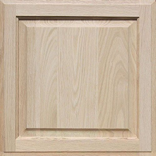Unfinished Oak Cabinet Door, Square with Raised Panel by Kendor 18H x 18W