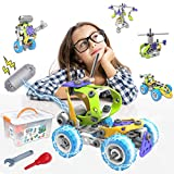 STEM Toys Kit 5 in 1 Motorized Educational Construction Engineering Building Blocks Toys Set for 6 7 8 9 10+ Year Old Boys & Girls | Best Birthday Toy Gifts for Kids