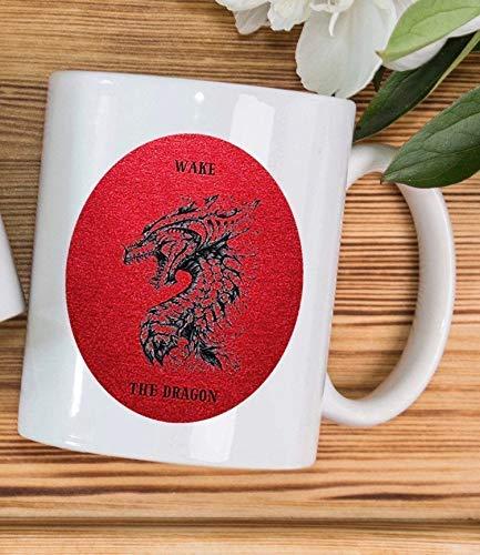N\A Dragón Taza de cerámica Taza de café Tronos Regalo Cuento de Hadas Novio Regalo Regalo para Novia Esposa Regalo Marido Regalo Regalo para Hombres