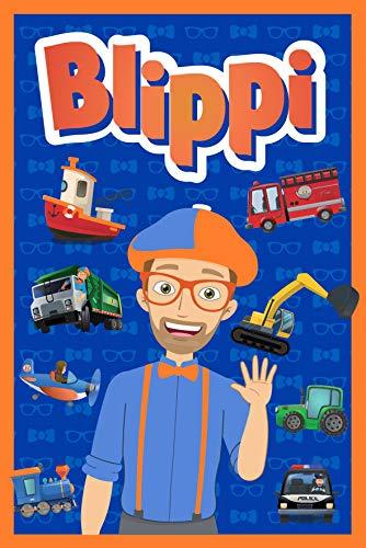 Blippi Coperta in pile – Youtuber Official Blippi – Coperta super morbida – 100 x 150 cm