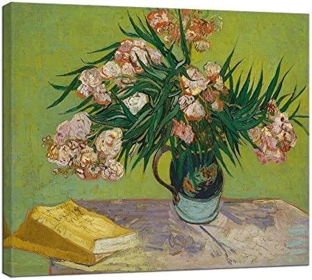 Wieco Art Oleanders 1888 Giclee Canvas Prints Wall Art by Van Gogh Floral Oil Paintings Reproduction product image