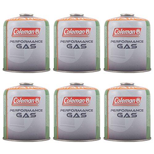 Coleman 6 x C500 Schraubkartusche 440 g Ventil Gas Kartusche Kocher Butan Propan
