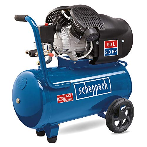 scheppach HC52DC Kompressor -Doppelzylinder 230V | 2200W | 8bar | 50L | 412l/min