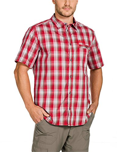 Jack Wolfskin Herren Hemd Springfield OC Shirt M, Red Fire Checks, L