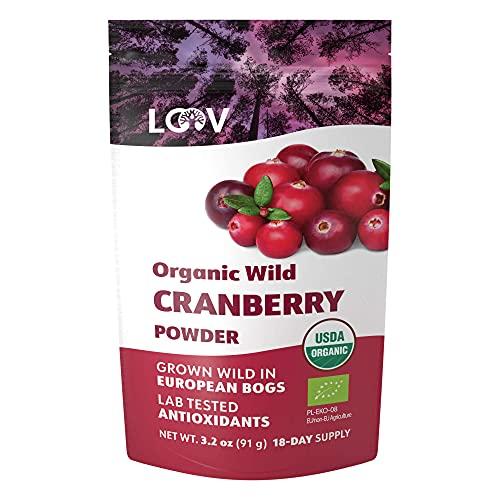 LOOV Organic Wild Cranberry Powder, 100% Whole Organic Cranberry...