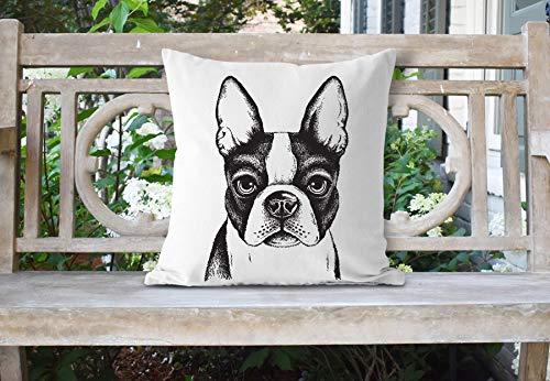 'N/A' Boston Terrier - Funda de almohada (45,72 x 45,72 cm)