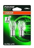 OSRAM ULTRA LIFE P21/5W brake, rear et lumière de recul 7528ULT-02B durée de vie extra longue en double blister