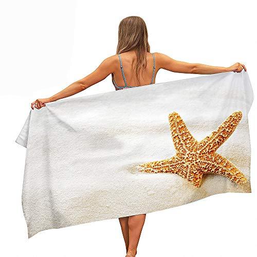 Fansu Toalla de Playa de Microfibra, Verano Toalla de Piscina Toalla Playera para Tomar el Sol de Paño, de Secado Rápido Compacta para Hombres y Mujeres (Estrella de mar,70 * 150cm)
