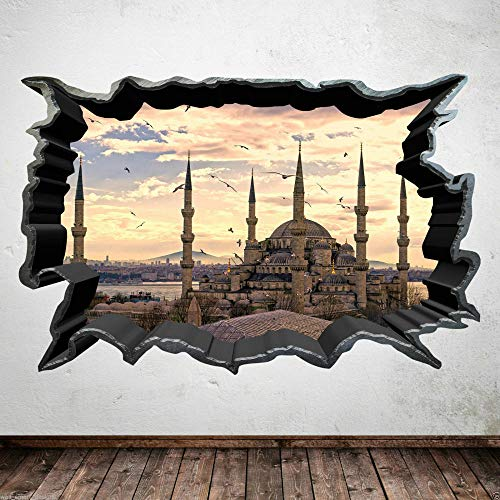 Wandtattoo Vollfarbige OLD CITY FAR EAST SUN Wandkunst Aufkleber Aufkleber Übertragung Grafikdruck-80x100cm