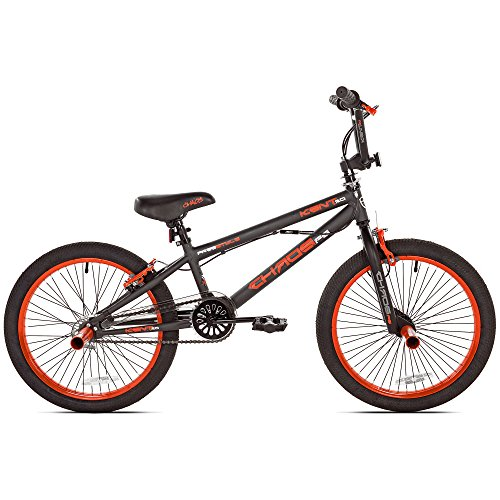 Kent 20u0022 Chaos Boys Bike, Matte Gray/Orange