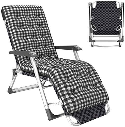 XZGDEN Ligero Jardín Relajante Silla Plegable reclinable tumbonas tumbonas reposacabezas de Viaje Ajustable Camping Patio Cama portátil Cero sillas de Gravedad, Carga 250kg (Color : Grey)