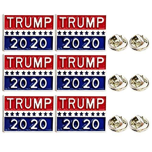 Christmas 6 Pcs 2020 Trump Brooch Creative Alloy Brooch America President Brooch Ornament