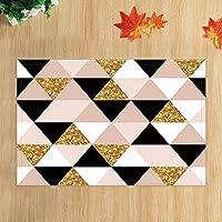 lovedomi モダンホームミニマリスト幾何学的な三角形のデザインスタイルバスルームカーペットアンティーク装飾滑り止めドアマット床入口インテリアフロントドアマット子供のバスルーム滑り止めマット15.7X23.6