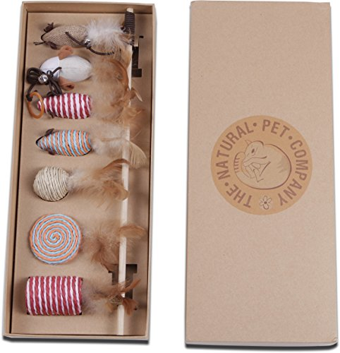 Die Kollektion Natural Pet Company Cat Toys in Geschenkbox