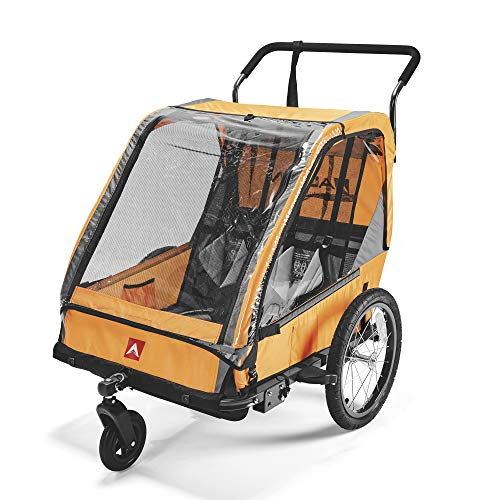 Allen Sports ES2-O Remolque de Bicicleta, Unisex Adulto, Naranja, 2-Child