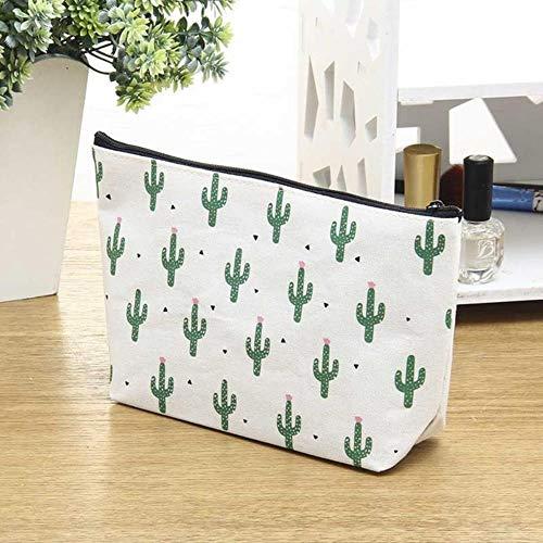 POMU Kosmetiktasche für Damen, Reise-Organizer, modischer Aufdruck, Make-up-Tasche, Kaktus, Kulturbeutel 2