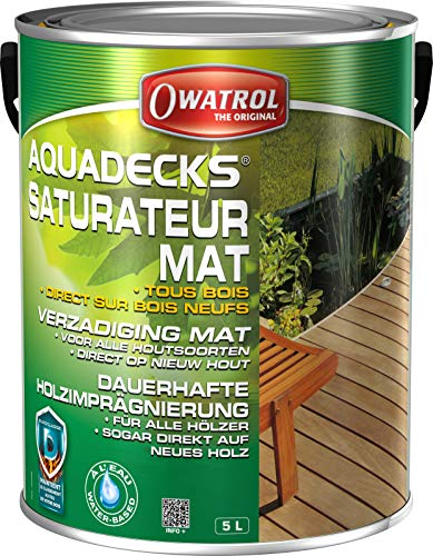 Anstrich OWATROL - AQUADECKS - Farbton HONEY - Gebindegrösse 5 Liter