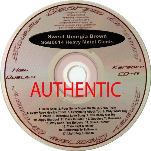 Sweet Georgia Brown Heavy Metal Giants (SGB0014 CD&G Karaoke)