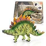 Educational Realistic Dinosaur Figure | Stegosaurus | Realistic Design Dinosaur Toy Dino Stickers and Kids Learn Facts Collection Card.