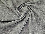 Minerva Crafts Tissu tricoté en jersey matelassé Gris clair – au mètre