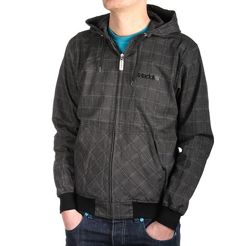 Iriedaily Messieurs, dog days Plaid Jkt, anthracite – M