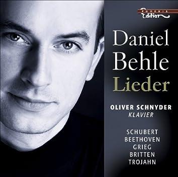 Vocal Recital (Lieder): Behle, Daniel - Schubert, F. / Beethoven, L. Van / Grieg, E. / Britten, B. / Trojahn, M.