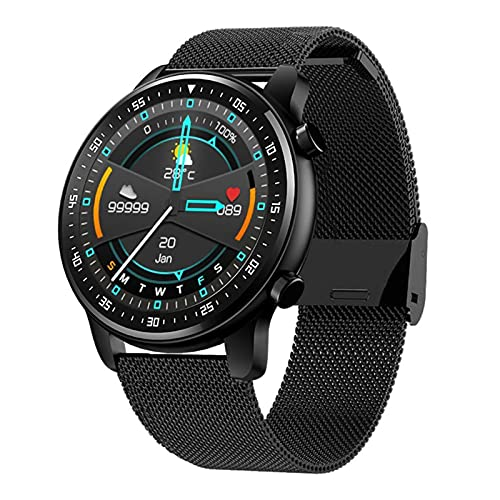 YDK MT1 Men's Smart Watch Fashion Business SmartWatch Bluetooth Call Sports Health Reaking Watch para Android iOS,A