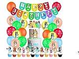 Decoración de Cumpleaños Set LLMZ Tema Artículos de Fiesta de Cumpleaños Temáticos Banners de Feliz Cumpleaños para Fiesta Temática Infantil