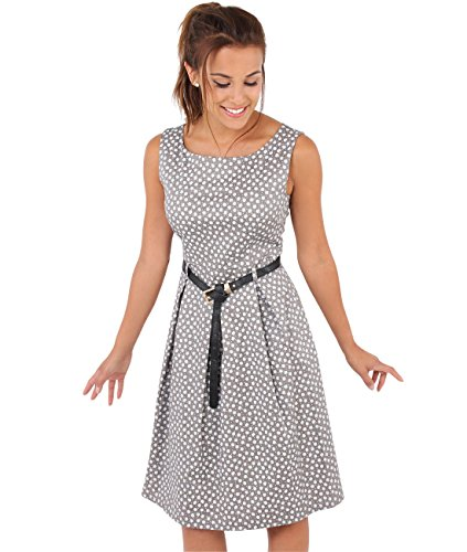 Krisp Damen 50er Jahre Vintage Kleid (Mokka, Gr.44, XXL) (7158-MOC-16)